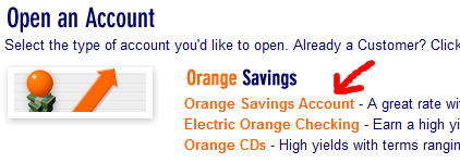 Orange Savings Account