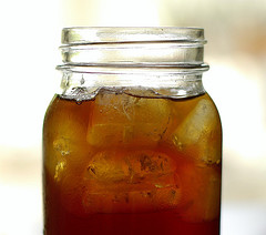 sweet iced tea in a mason jar by House of Sims on Flickr