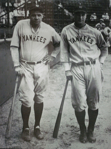 Babe Ruth and Lou Gehrig by Mojumbo22 on Flickr