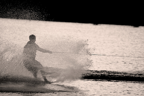 Waterskiing (photo by Igor Bespamyatnov on Flickr)