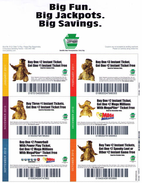 PA Lottery Coupons